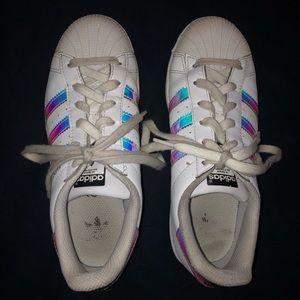 Adidas Superstar White & Metallic Silver Sneakers